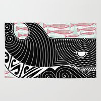 orca Area & Throw Rugs featuring Orca Dreaming by Alex Morgan
