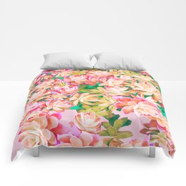 Cactus Fall - Pink and Green Comforters