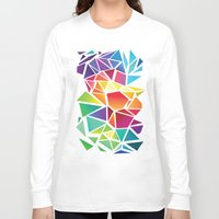 triangles Long Sleeve T-shirts featuring Triangles by Veronika