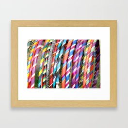 Hula Hoops Framed Art Print