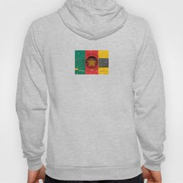 Old Vintage Acoustic Guitar with Cameroon Flag Hoody
