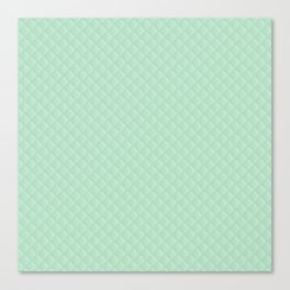 Summermint Pastel Green Mint Puffy Quilt Canvas Print