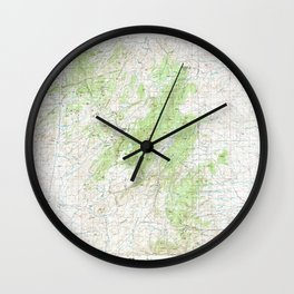 WY Laramie Peak 342348 1981 topographic map Wall Clock