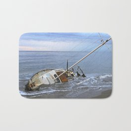 "Sailboat ""Beached Sailboat"" Bath Mat"
