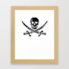 8bit piracy  Framed Art Print