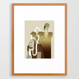Take Me to Your Leader Framed Art Print