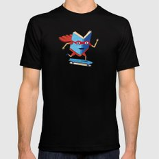 bookhero ride skateboard MEDIUM Black Mens Fitted Tee