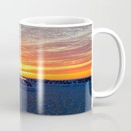 Winter Marina after the Sun Coffee Mug