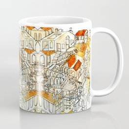 Red Roof Houses Coffee Mug