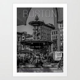 A Gleam of Sunshine - Boston Common Fountain Art Print