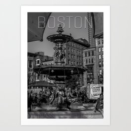 A Gleam of Sunshine - Boston Common Fountain Art Print
