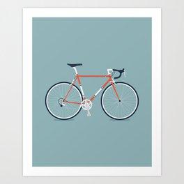 My Bike Red Art Print