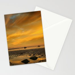 Beach at Sunset Stationery Cards
