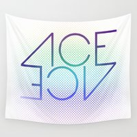 ace Wall Tapestries featuring Ace Ace by Covered In Moons