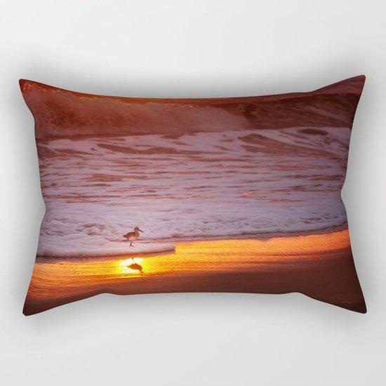 Sunny Sandpiper Rectangular Pillow