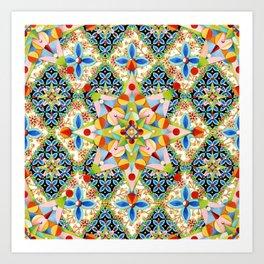 Elizabethan Blossom Starburst Art Print