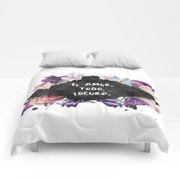 El Amor. Todo. Locura Comforters