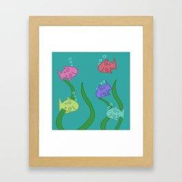 Fishies! Framed Art Print