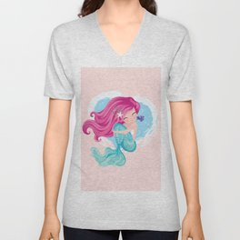 Cute mermaid illustration Unisex V-Neck
