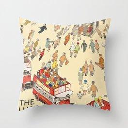 London Underground Vintage Throw Pillow