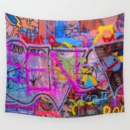Bright Graffiti Wall Tapestry