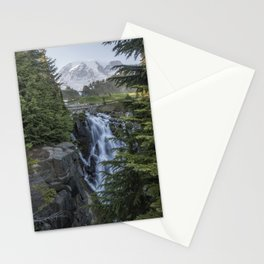 Mount Rainier and Myrtle Falls, Late Afternoon, vertical Stationery Cards