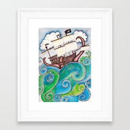 Pirate Peril Framed Art Print
