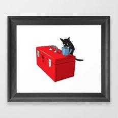 Chat Noir Beverage Tipper Framed Art Print