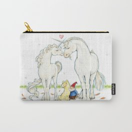 Goodnight Unicorn Nuzzling Blush Carry-All Pouch