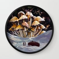 psychadelic Wall Clocks featuring Alice in Wonderland by Blaz Rojs