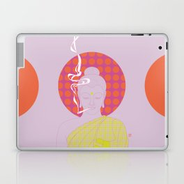 Buddha : Give Peace a Chance! (PopArtVersion) Laptop & iPad Skin