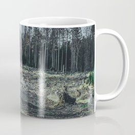 Fallen And Broken Trees After Storm Victoria February 2020 Möhne Forest 6 dark Coffee Mug