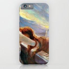 Classical Masterpiece 'Al Piano' by Lionello Balestrieri iPhone Case