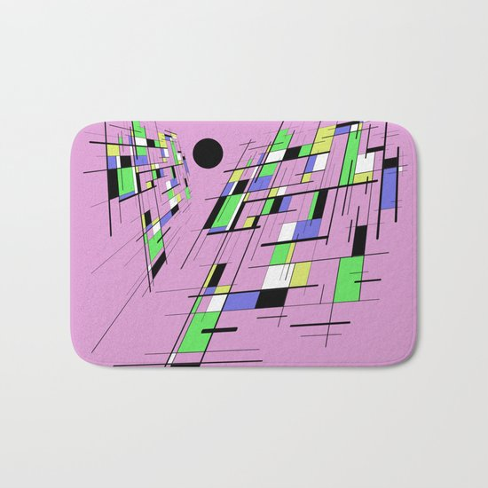 Bad perspective - Abstract, vector, geometric, 3D style artwork Bath Mat