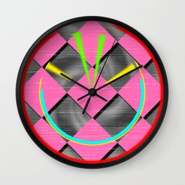 colored abstraction Wall Clock