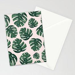 Monstera Print Stationery Cards