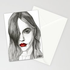 Sasha with Red Lips Stationery Cards