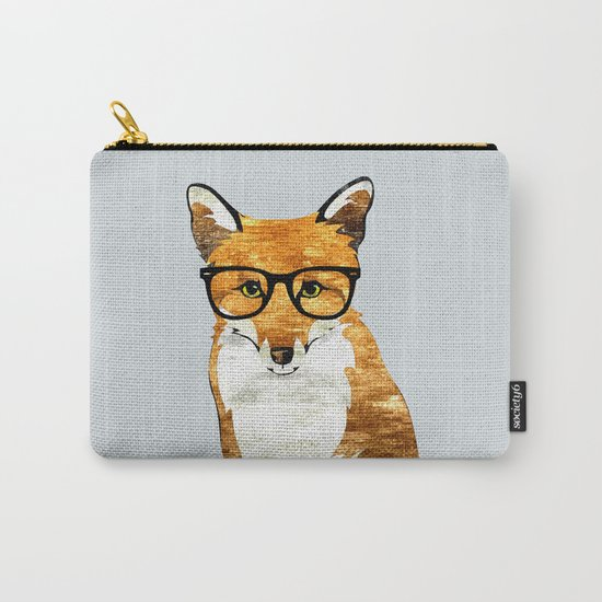 Foxy #society6 #animallover #buyart Carry-All Pouch