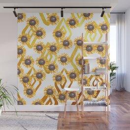 Golden Sunflowers Wall Mural
