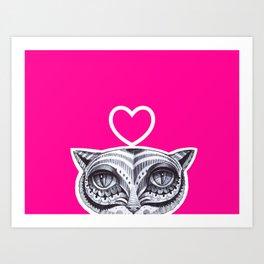 Cat P Art Print
