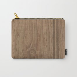 Vintage Wood Panel Carry-All Pouch