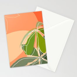Money tree leaves Stationery Cards