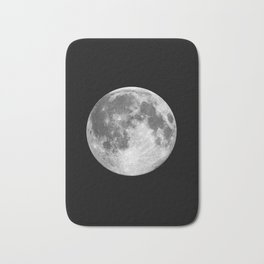 Full Moon print black-white photograph new lunar eclipse poster bedroom home wall decor Bath Mat