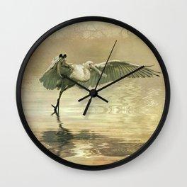 Spoonbill morning Wall Clock