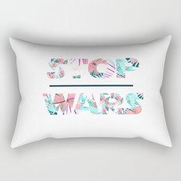 Stop wars Rectangular Pillow
