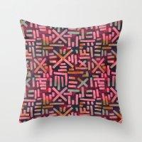 desert Throw Pillows featuring DESERT  by Schatzi Brown