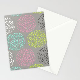 Flowers-triangles Stationery Cards