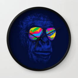 Blue Gorilla Wall Clock