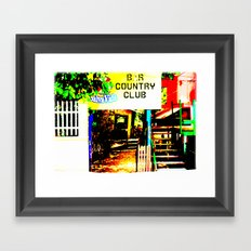 A Sophisticated Lounge Where They Have It All Framed Art Print