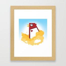 Big Chicken Framed Art Print